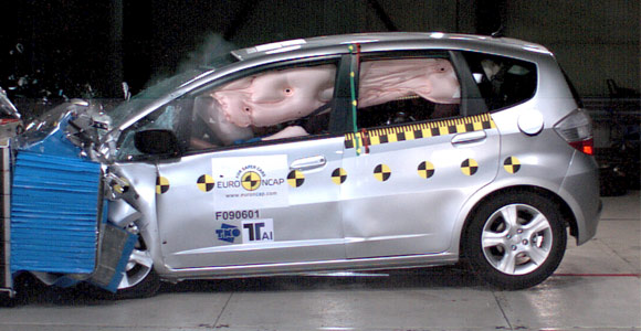 Honda Jazz - maksimalna ocena na Euro NCAP testovima bezbednosti